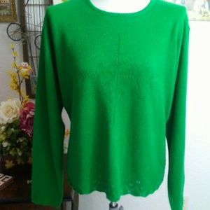 Holiday Green Sweater